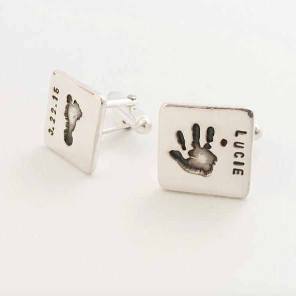 Personalized Handprint Cufflinks