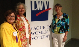 Karen Nicholson, Kathleen Kastelic, Sheila Swearingen 2013 LWVUS Council