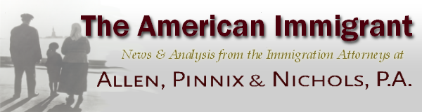 The American Immigrant, from the Law Offices of ALLEN, PINNIX & NICHOLS, P.A.