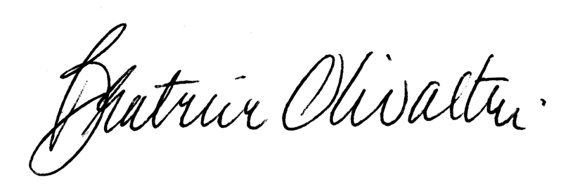 Beatrice Olivastri Signature