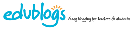 Pretty Edublogs logo - turn on image to see