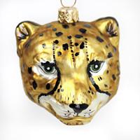 Glasfigur Gepard Kopf