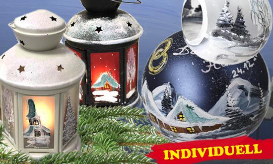 Teelicht-Kugeln Laternen Weihnachtsdeko