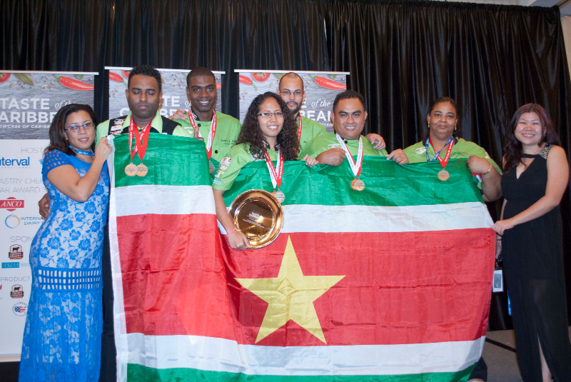 Results Suriname Culinary Team at the Taste of the Caribbean 2015
