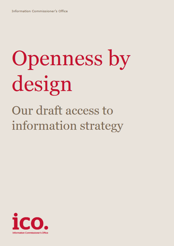 ICO Openness by design draft strategy