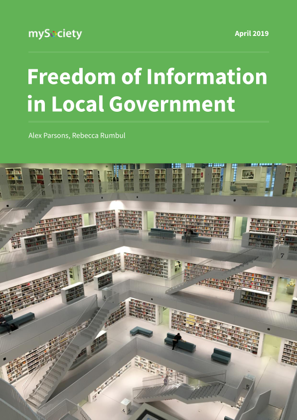 FOI in Local Government research report from mySociety