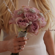 Rhinestone Romance Bouquet Holder