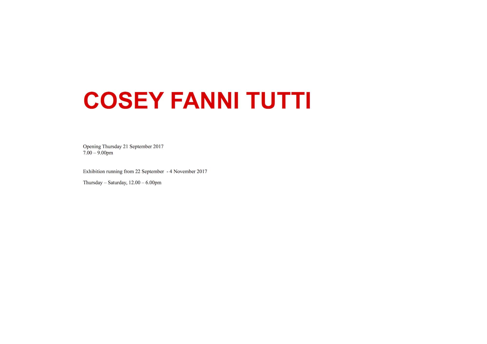 """""""Cosey"""