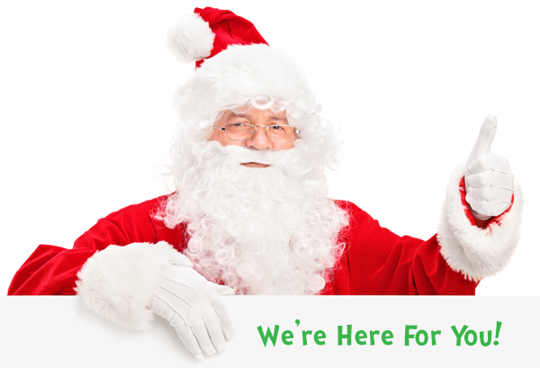 Santa - we're here for you