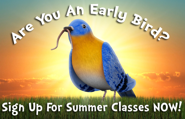 Early Bird signs up for activity classes