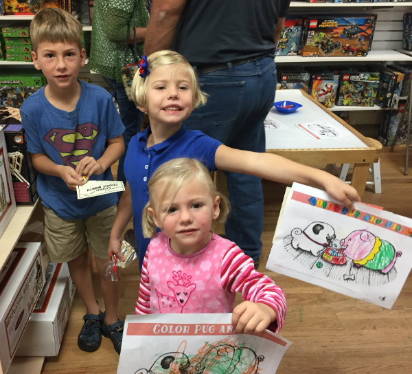 Kids at Pug Meets Pig book event