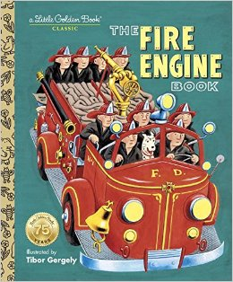 The Fire Engine book from Little Golden Books