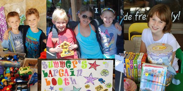 Kid entreprenuers at the Learning Tree Kid's Flea Market