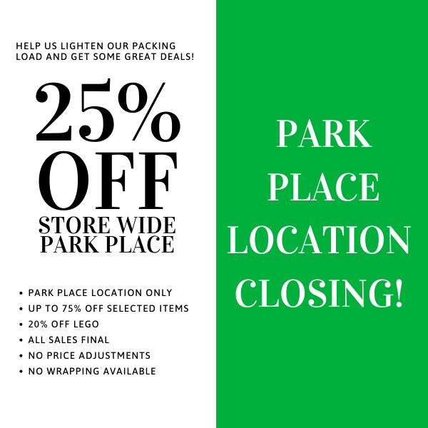 25% off sale at Park Place store-wide