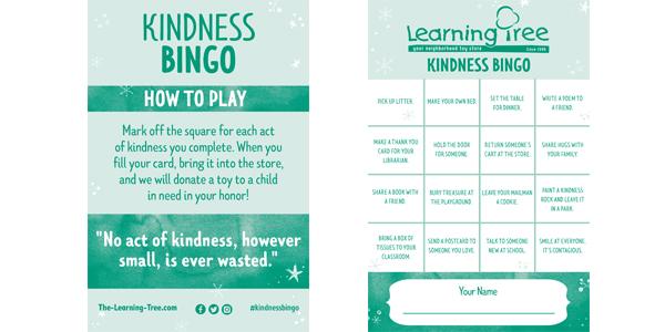 Kindness Bingo card file