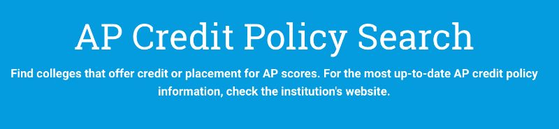 AP Credit Policy Search Tool