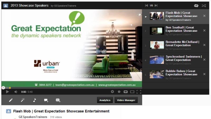 Youtube Playlist   Great Expectation Showcase 2013