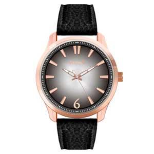 Ferendi ρολόι 9965-1 με rose gold alloy πλαίσιο και δερμάτινο λουράκι.