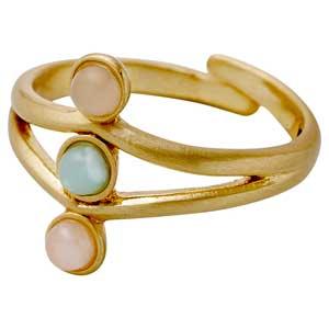 Pilgrim δαχτυλίδι από επιχρυσωμένο ορείχαλκο με ημιπολύτιμες πέτρες (ορυκτοί κρύσταλλοι) 141722404