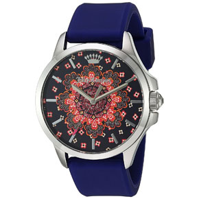Juicy Couture ρολόι από ανοξείδωτο ατσάλι με μπλε λουράκι σιλικόνης 1901482
