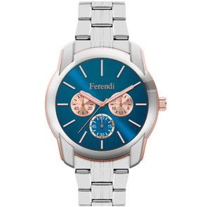 Ferendi ρολόι 3998-4 με steel alloy πλαίσιο και μπρασελέ.