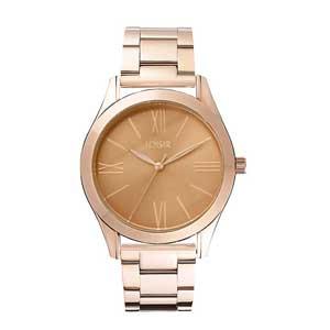 Loisir ρολόι 11L05-00307 από ανοξείδωτο ατσάλι με ροζ χρυσή επιμετάλλωση στην κάσα και μπρασελέ
