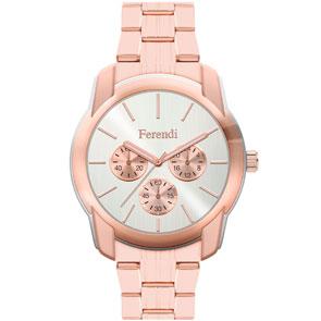Ferendi ρολόι 3998-3 με rose gold alloy πλαίσιο και μπρασελέ.