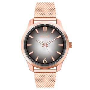 Ferendi ρολόι 9965-101 με rose gold alloy πλαίσιο και μπρασελέ.
