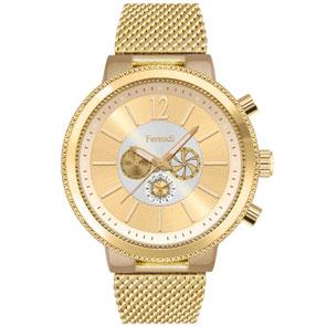 Ferendi ρολόι 5561-5 με gold alloy πλαίσιο και μπρασελέ.