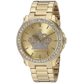 Juicy Couture ρολόι από χρυσό ανοξείδωτο ατσάλι με μπρασελέ 1901472