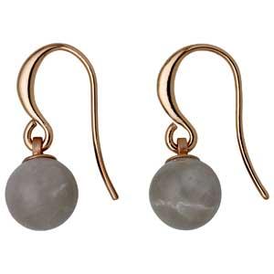 Pilgrim σκουλαρίκια από ροζ επιχρυσωμένο ορείχαλκο με ημιπολύτιμες πέτρες (ορυκτοί κρύσταλλοι) 281724113