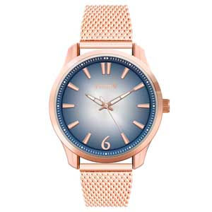 Ferendi ρολόι 9965-104 με rose gold alloy πλαίσιο και μπρασελέ.