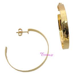 Χειροποίητα σκουλαρίκια (Κρίκοι) από επιχρυσωμένο ασήμι 925ο. IJ-020380