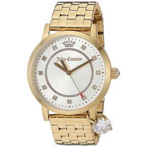 Juicy Couture ρολόι από χρυσό ανοξείδωτο ατσάλι με μπρασελέ 1901475