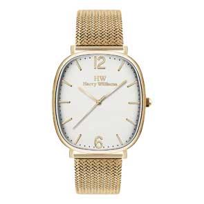 Harry Williams ρολόι από χρυσό ανοξείδωτο ατσάλι με μπρασελέ HW-2261L/03M