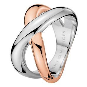 Tommy Hilfiger γυναικείο δαχτυλίδι από δίχρωμο ανοξείδωτο ατσάλι 2700965