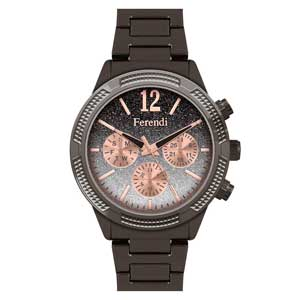 Ferendi ρολόι 1142-6 με γκρι alloy πλαίσιο και μπρασελέ.