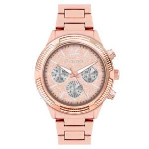 Ferendi ρολόι 1142-1 με rose gold alloy πλαίσιο και μπρασελέ.