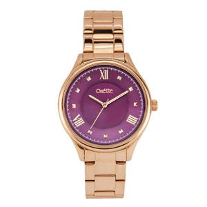 Oxette ρολόι 11X03-00463 από ανοξείδωτο ατσάλι με ροζ χρυσή επιμετάλλωση στην κάσα και μπρασελέ.