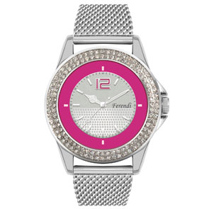 Ferendi ρολόι 1329-116 με steel alloy πλαίσιο και μπρασελέ.