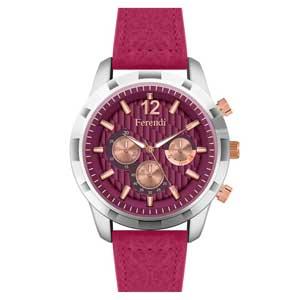 Ferendi ρολόι 3422-2 με steel alloy πλαίσιο και δερμάτινο λουράκι.