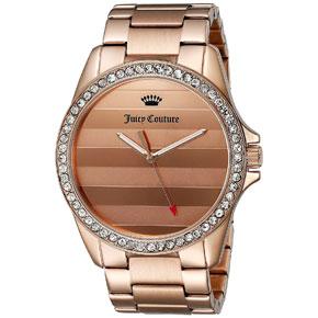 Juicy Couture ρολόι από ροζ χρυσό ανοξείδωτο ατσάλι με μπρασελέ 1901290