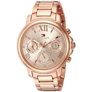 Tommy Hilfiger ρολόι από ροζ χρυσό ανοξείδωτο ατσάλι με μπρασελέ 1781743