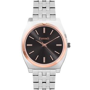 Ferendi ρολόι 8565-6 με steel alloy πλαίσιο και μπρασελέ.