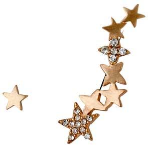 Pilgrim σκουλαρίκια από ροζ επιχρυσωμένο ορείχαλκο με ημιπολύτιμες πέτρες (κρύσταλλοι quartz) 281644033