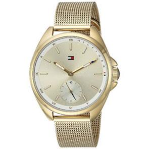 Tommy Hilfiger ρολόι από χρυσό ανοξείδωτο ατσάλι με μπρασελέ 1781757