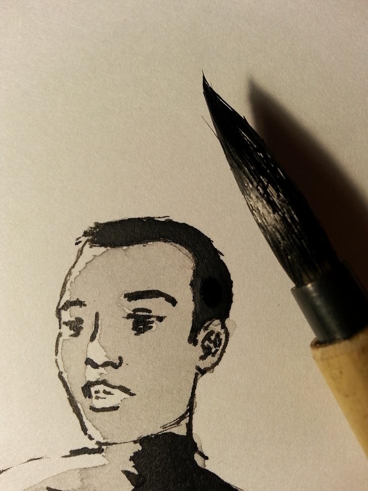 Flesh Machine Lucy short hair practice ink wash