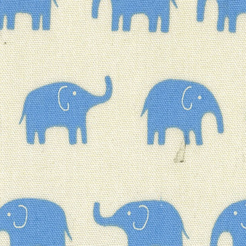 Daiwabo Elephant Fabric blue