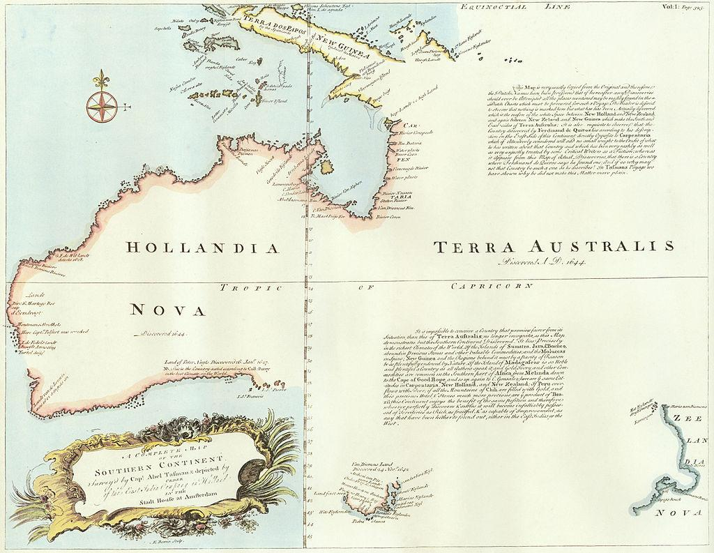map of the Southern Continent (1767)
