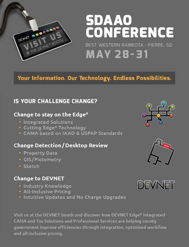 DEVNET Incorporated - SDAAO Conference - Pierre, SD - May 28-31